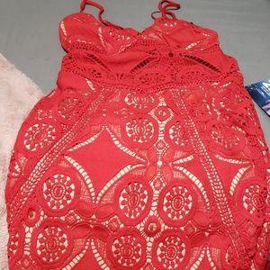 Red Fashion Nova mini dress